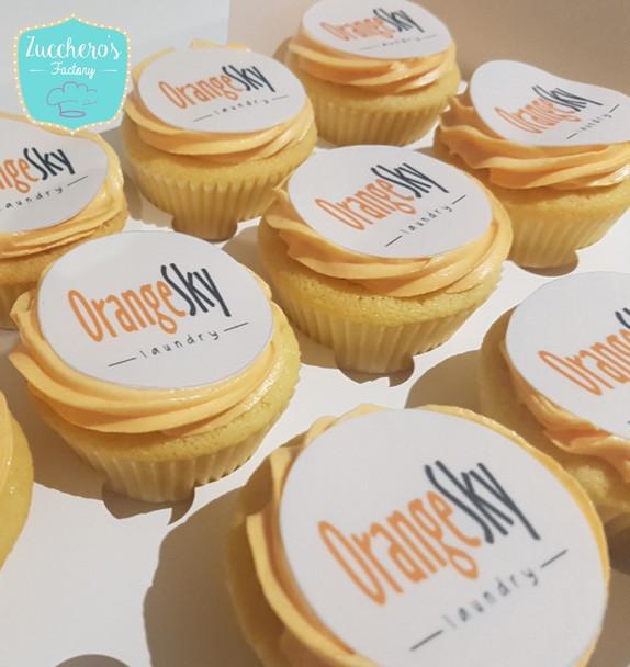Corporate Printing Logo Cupcakes