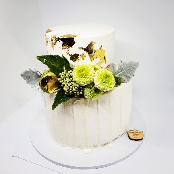 Two tiered Wedding Cake