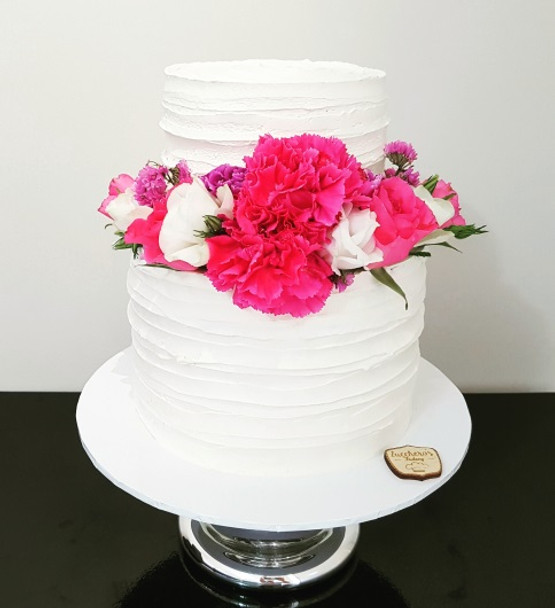 Two Tired Floral Cake