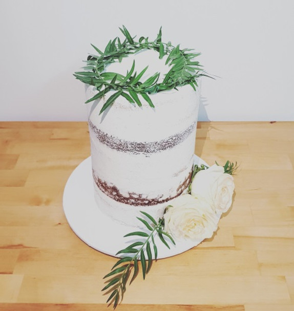 "6"" DOUBLE BARREL SEMI NAKED CAKE"