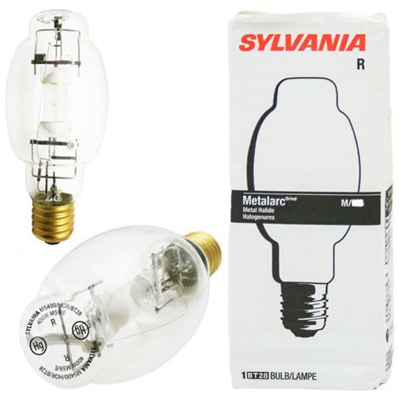SYLVANIA METALARC METAL HALIDE 400 WATT BULB M59//E M400//U//BT28 NEW SINGLE