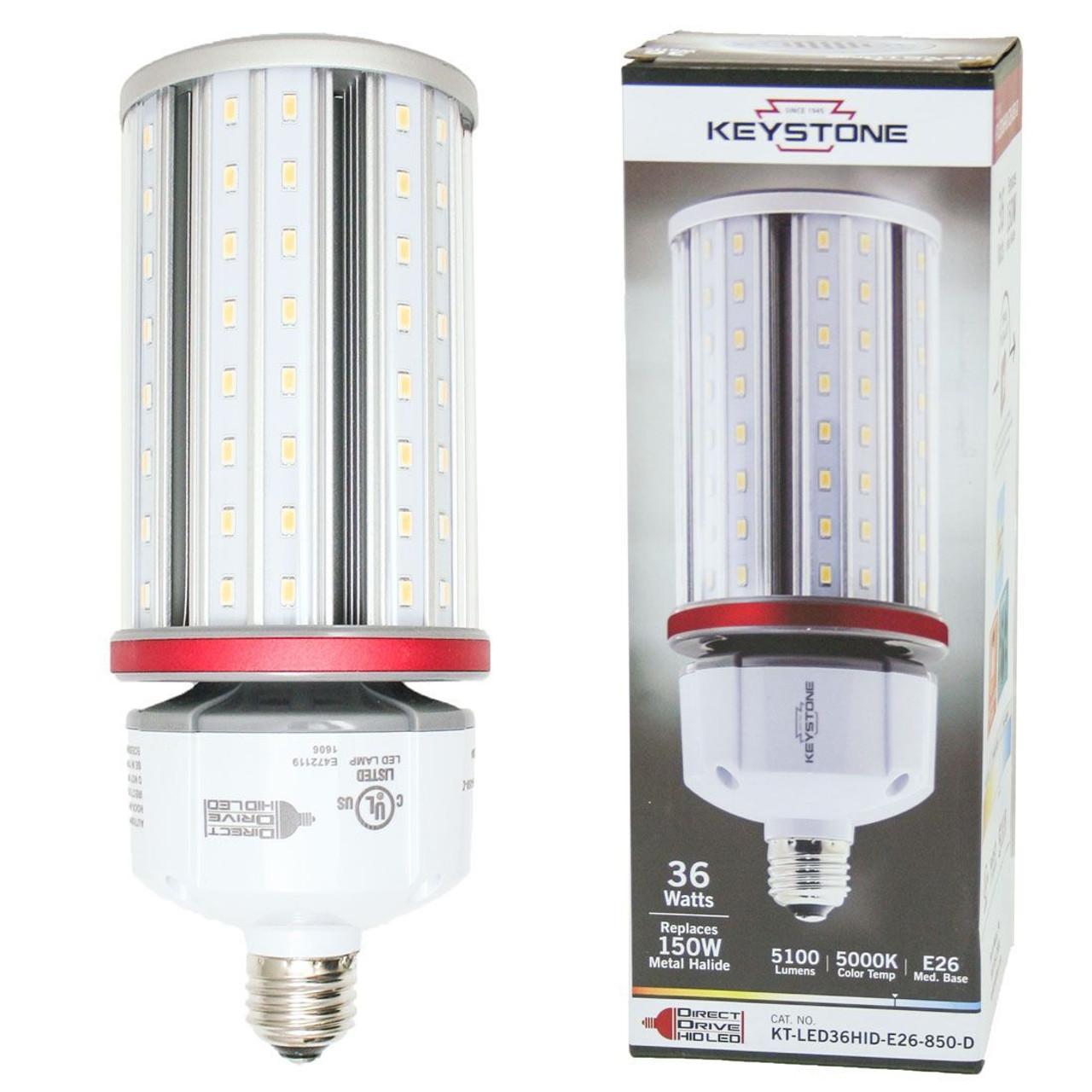 Keystone Kt Led36hid E26 850 D 150w Metal Halide Equal Led Corn Bulb Light Bulb Surplus