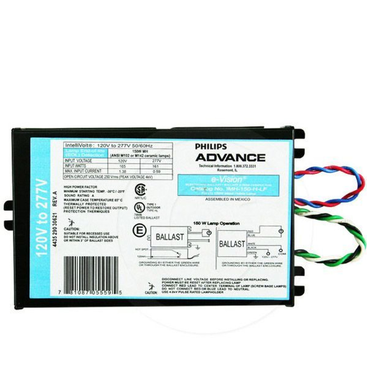 Advance IMH-50-A-LF Electronic Metal Halide Ballast for 35W or 50W MH Lamp 1