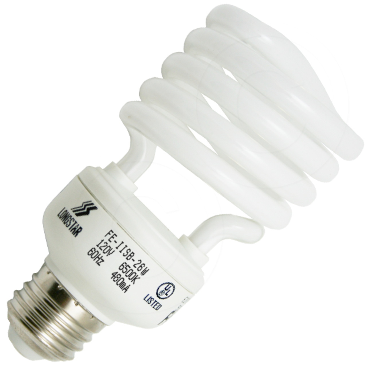 26W CFL Mini Spiral GU24 Base 5000K Daylight =120W Fluorescent Light Bulb 2 Prong Twist and Lock Spiral
