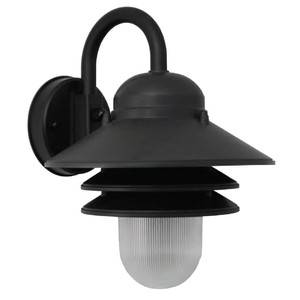 13W LED Black Tiered Nautical Exterior Porch Light Wall Fixture 4000K 3