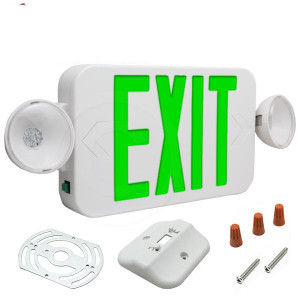 Fulham FHEC30-WG Micro 2 Head Emergency Light with LED Exit Sign