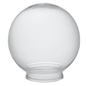 """Clear 6"""" Outdoor Acrylic Light Globe with 3"""" Lip"""