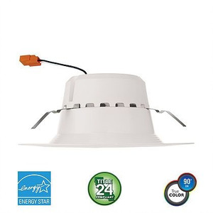 "Euri Lighting 120W Equal LED 5""/6"" LED Downlight Retrofit EFDLCDM/B/21W/1400/90D/40K/E26/E"