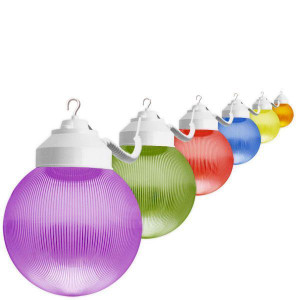 6 Light Outdoor Multi Color Globe String Light Set