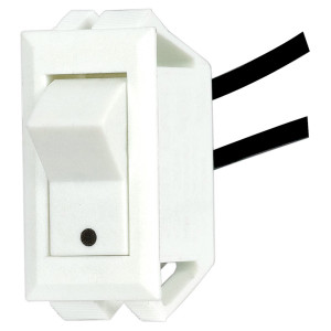 Satco 80-1617 Rocker Switch Snap-In White On Off