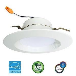 """Euri Lighting 75W Equal LED 4"""" LED Downlight Retrofit EDLC4DM/B/13W/800/95D/40K/E26/E"""