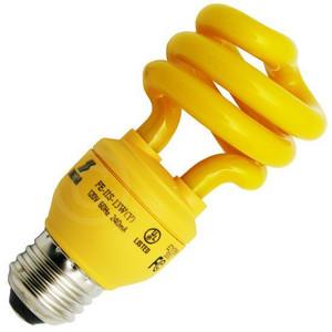 Longstar FE-IIS-13W(Y) 13W 120V 60Hz 240mA Yellow CFL Light Bulb