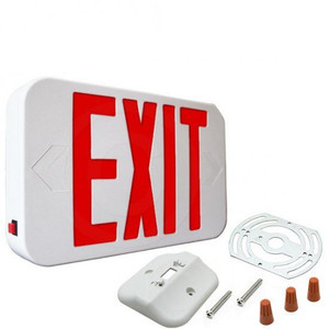 Fulham FHEX21-W-R-EM Battery Back-up Emergency LED Exit Sign