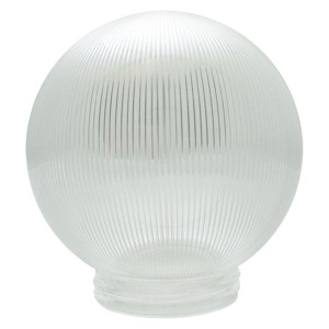 Replacement Clear Prismatic Globe with Threaded Neck