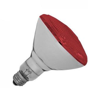 Halco 100W BR 38 130V Red Indoor Outdoor Flood Lamp 404116