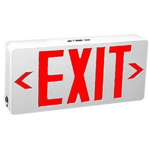 TCP 3 Watt Red LED Polycarbonate Exit Sign 22743US