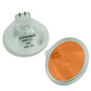 Litetronics L-3821A Spectachrome Amber MR16 EXZ 50W 12V 6000 HC