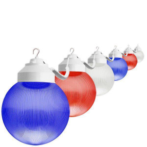 6 Red White Blue Globe USA July 4th Home Patio Light String 30ft