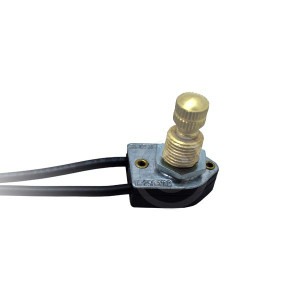 GSW-61 SPST Light Fixture Replacement Brass On/Off Rotary Switch