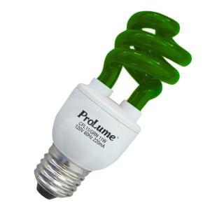 Prolume CFL11/GRN 11W 120V Green Party Light Bulb HT 109226