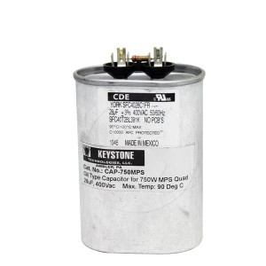 Keystone CAP-750MPS 400Vac 28uf Oil Type Capacitor 750W MPS Quad