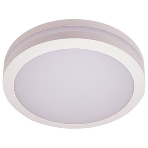 Round White IP65 14W LED 3000K Wall or Ceiling Light