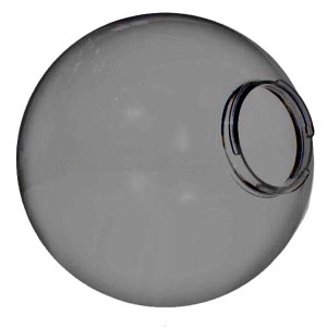 "Smoke 10"" Outdoor Acrylic Globe Cover with Twist Lock Neck"