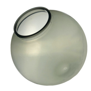 "16"" Smoke Acrylic Plastic Light Globe with 6"" Neck Lip"