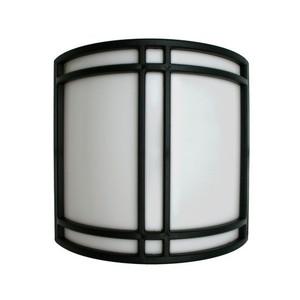 9W LED Black Paneled White Translucent Lens Modern Wall Sconce 3000K