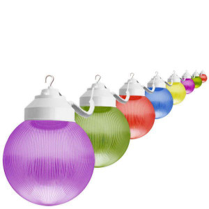 10 Light Outdoor Multi Color Globe String Light Set