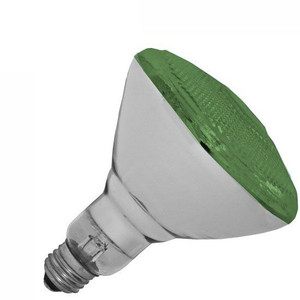 Halco 100W BR 38 130V Green Indoor Outdoor Flood Lamp 404114