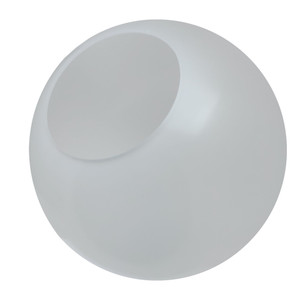"""White Acrylic Post Top Decorative Globe w// 5.25/'/' Hole Opening NEW 14/"""" in"""