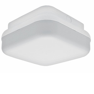 13W Integrated LED Outdoor White Plastic Square Ceiling Light