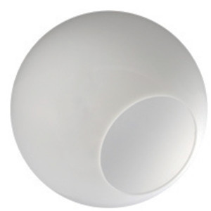 """6"""" White Acrylic Plastic Light Globe with Neckless Opening"""