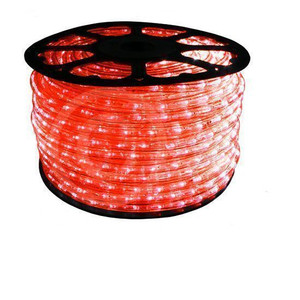 "150 ft Red LED Rope Light Spool 1/2"" 120 Volt 2 Wire Reel"