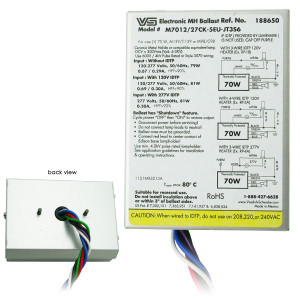 VS 188650 M7012/27CK-5EU-JT3S6 Electronic 70W MH Ballast IDTP