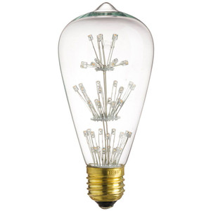 Sunlite 80128-SU S19/LED/SF/1.8W/CL/23K LED S19 Star Filament
