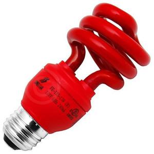 Longstar FE-IIS-13W(R) 13W 120V 60Hz 240mA Red CFL Light Bulb