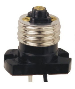 Medium Edison E26 Base Screw In Socket Pigtail