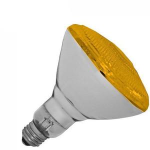Halco 100W BR 38 130V Yellow Indoor Outdoor Flood Lamp 404119