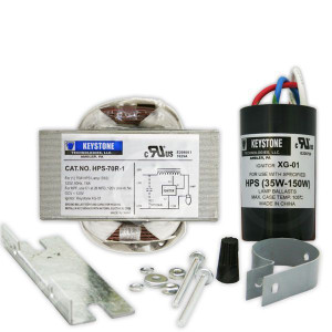 Keystone HPS-70R-1-KIT 70W S62 High Pressure Sodium Ballast 120V