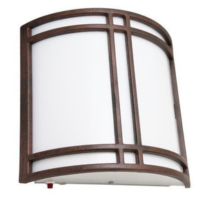 Incon 21613 LED Emergency Battery Back-up Wall Sconce Hallway Light Brushed Rust