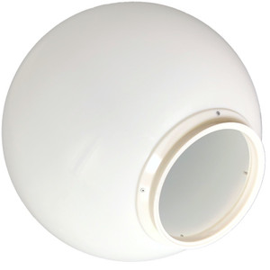 """18 Inch White Polycarbonate Light Globe with 8 """" Lip"""
