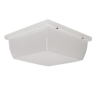 "10"" Square Flush Mount Outdoor Ceiling Light with Frost White Acrylic Cover"
