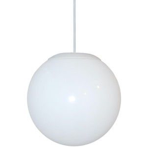 Hanging Outdoor White Globe Pendant Light