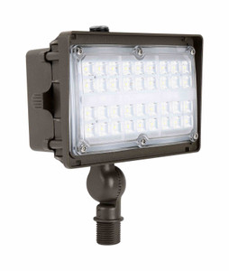 Commercial Outdoor LED Flood Light Fixture with Knuckle Mount