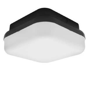13W Integrated LED Outdoor Black Plastic Square Ceiling Light