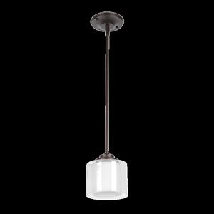 Sunset Lighting F17010-64 Abbot White Glass 1 Light Mini Pendant