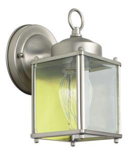 "Sunset Lighting F6840-53 Satin Nickel 1 Light 8"" Height Outdoor Wall Sconce"