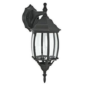 Sunset Lighting F7813-31 Clear Beveled Glass 1-Light Black Cast Aluminum Lantern